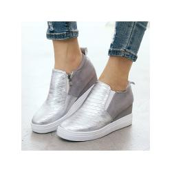 Berrylook Plain Round Toe Casual Date Travel Sneakers online shop, fashion store,